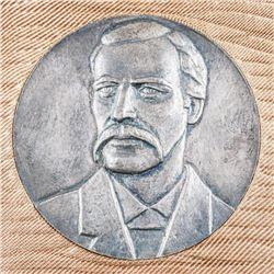 Estate Sterling Silver Medal, 80 grams