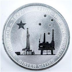 Australia Houston - Texas .9999 Fine Silver 50 Cen