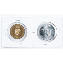 1867-1967 Silver Dollar and Medal Set