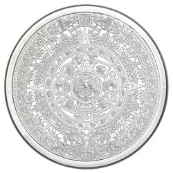 Aztec Calendar .999 Fine Silver 2 oz. ASW