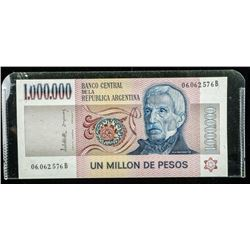 Banco of Argentina Un Million De Pesos