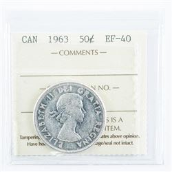 1963 CAD Silver 50 Cent, EF40. ICCS