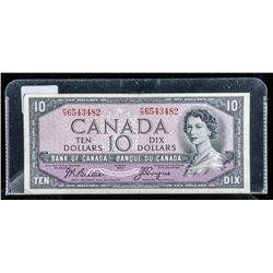 Bank of CANADA 1954 10.00 Devil's Face B/C Note