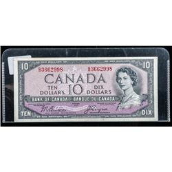 Bank of Canada 1954 $10 Devil's Face B/C