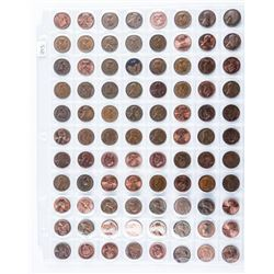 Group of (88) USA and Canada One Cent Coins, Canad