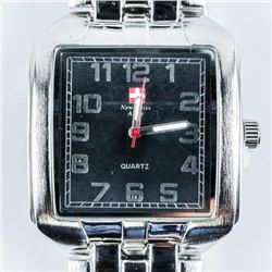 Gents - New Swiss Army Brand Watch Square Face Bla