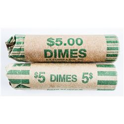 Lot of (2) Rolls USA Dimes
