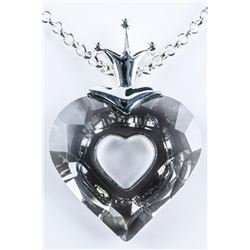 Swarovski Necklace Heart Cut Smokey Swarovski Elem