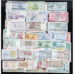 Group of (50) UNC World Notes, Approx 50 Countries