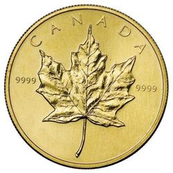 RCM Gold Plated Lapel Pin Maple Leaf Coin