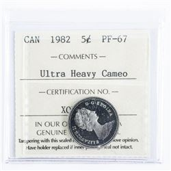 1982 CAD 5 Cents PF 67 Ultra Heavy Cameo