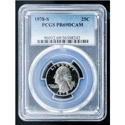 1978-S USA 25 Cents PR69 D Cam PCGS