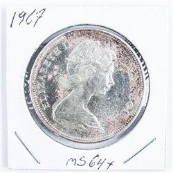 1867 - 1967 CAD Silver Dollar Coin