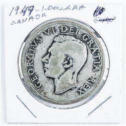 1949 Canada Silver Dollar Toned