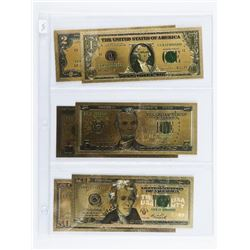 Lot of (6) 24kt Gold Leaf Set - USA Collector Note