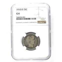 1910 D USA 25 Cent. NGC-G6