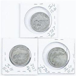 Lot (3) Ireland Silver Florins, 1939,1940,1942 .81