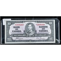 Bank of CANADA 1937 10.00 BC-24c C/T Note
