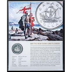 1949 Canada Silver Dollar with Art Giclee Card