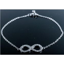 925 Silver Handmade Infinity Bracelet with 35 Natu