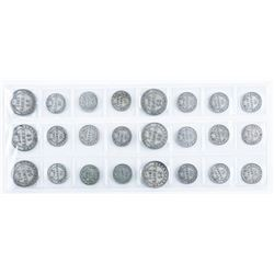 Group of (24) NFLD Silver Coins - 10, 20, 25 cents