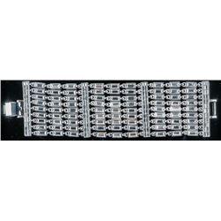 MM Designer Fancy Bracelet 925 Silver and Rhodium