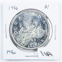 1966 Canada Silver Dollar MS60