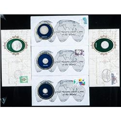 Group of (4) Historic Silver Coins of the  World Cover, Coin, Stamp