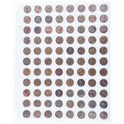 Group of (88) USA and Canada One Cent Coins,  Canada, Ceased Production 2012
