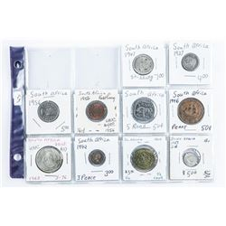 Group of (10) Coins of South Africa