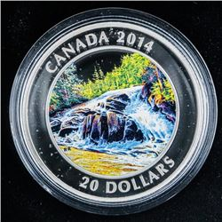 RCM .999 Fine Silver $20.00 Coin 'River  Rapids' 1 Troy oz ASW