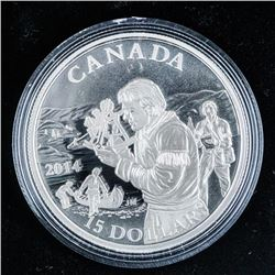 RCM 2014 Exploring Canada .999 Fine Silver  $15.00 Coin over .745 Troy oz ASW
