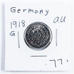 Germany 1918G 1/2 Mark (AU) .0802 ASW