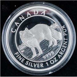 RCM 2014 - Arctic Fox .999 Fine Silver $5.00  LE/C.O.A.