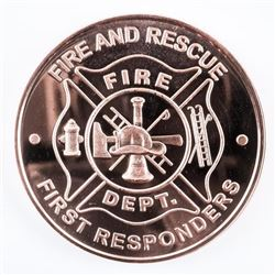 First Responders .999 Fine Pure Copper Round  1oz