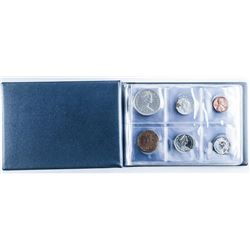 World Coin Album, with Coins 'Leuchtturm' 24  Coins with Silver