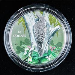 2017 RCM 'Northern Flicker' .999 Fine Silver  $10.00 Coin 15.87grams ASW