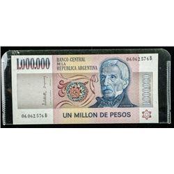 Banco of Argentina Un Million De Pesos