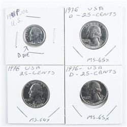 Group (4) USA Coins MS64-65