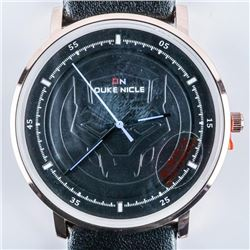 DUKE NICLE Gents Designer Watch, Marvel Dial,  Leather Band, Waterproof Black Dial/Band
