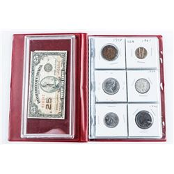 Coin Stock Book Starter Collection (12)  Coins, Includes Silver and 1923 Shinplaster