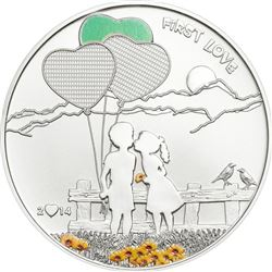 Love Coin $5.00 - 925 Sterling Silver 'First  Love' LE/2500