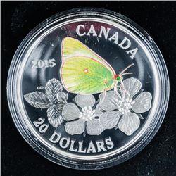 RCM Butterflies of Canada .999 Fine Silver  $20.00 Coin over 1oz ASW