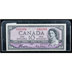 Bank of Canada 1954 10.00 Note (AD) C/T