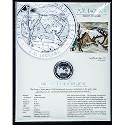 RCM - A.Y. Jackson - Art Coin .9999 Fine  Silver $20.00 LE/C.O.A. over 1oz ASW with  Giclee Art Card