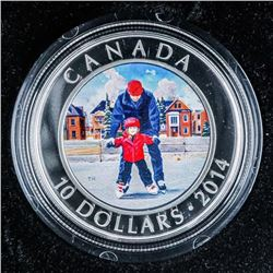 2014 Skating in CANADA .999 Fine Silver  $10.00 15.87grams ASW