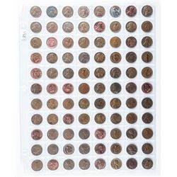 Group of (88) USA and Canada One Cent Coins