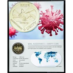 Corona Virus - The You Front Line Workers -  First 24kt Gold Gilded Collector Note with  Giclee Art