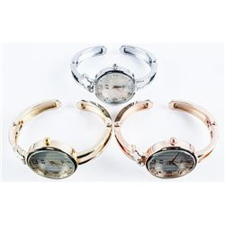 Group of (3) Bangle Watches - Brand New,  Current Designs, From Distributor Closure Due  to Covid.