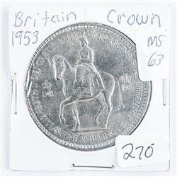 Britain 1953 Crown MS 63